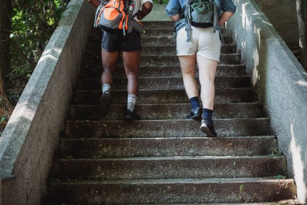 Taking the stairs helps you burn more calories than walking alone - Coach Joseph Webb.